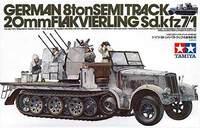 Tamiya German 8-ton Halftrack AA Gun Sd.Kfz7/1 1:35 Model Kit