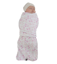 Mum 2 Mum Large DreamSwaddle - Pink Bubbles