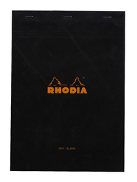 Bloc Rhodia Black A4 80 Blank Sheets