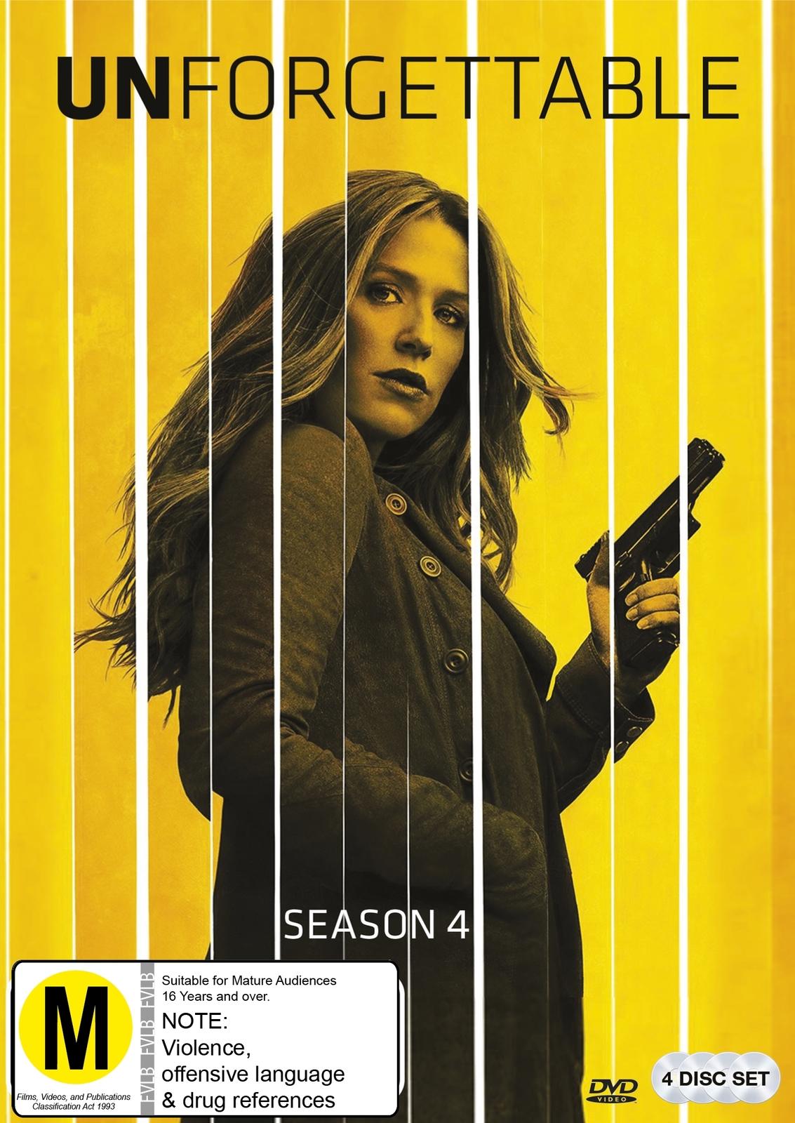 Unforgettable - Season 4 on DVD image