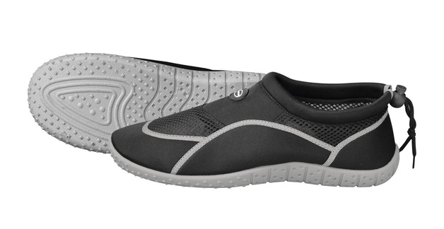 Mirage: B019 Junior Aquashoe - Black/Grey (Size 5-6)