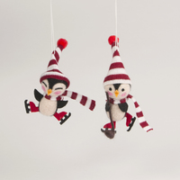 Felt Skating Penguin Hanging Decoration (Assorted)