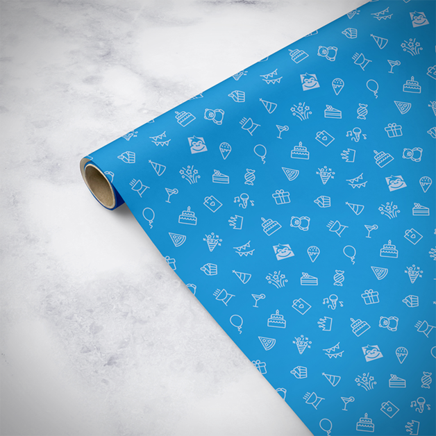 Gorilla Gift: Wrapping Paper - Birthday Blue (5m)