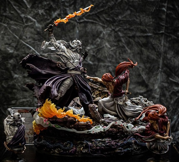 """Rurouni Kenshin: Kenshin vs. Shishio - 23"""" Elite Fandom Diorama"""
