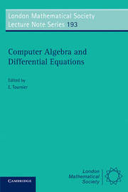 Computer Algebra and Differential Equations image