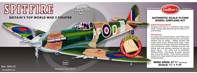 Supermarine Spitfire 1:16 Balsa Model Kit image