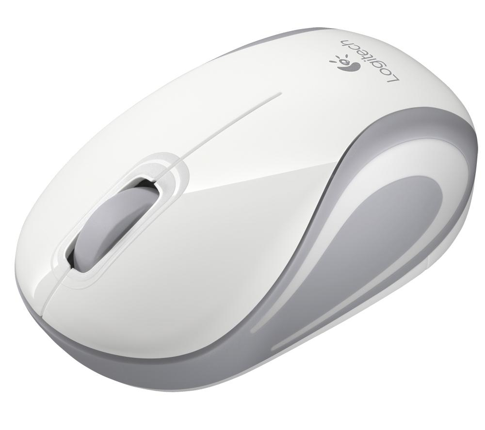 Logitech M187 Wireless Mini Mouse (White) image