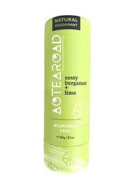 Aotearoad Natural Deodorant - Zesty Bergamot + Lime (60g)
