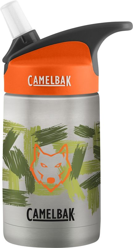 Camelbak: Eddy Kids Vacuum Insulated Stainless Steel Botttle - Wolf Camo (355ml)