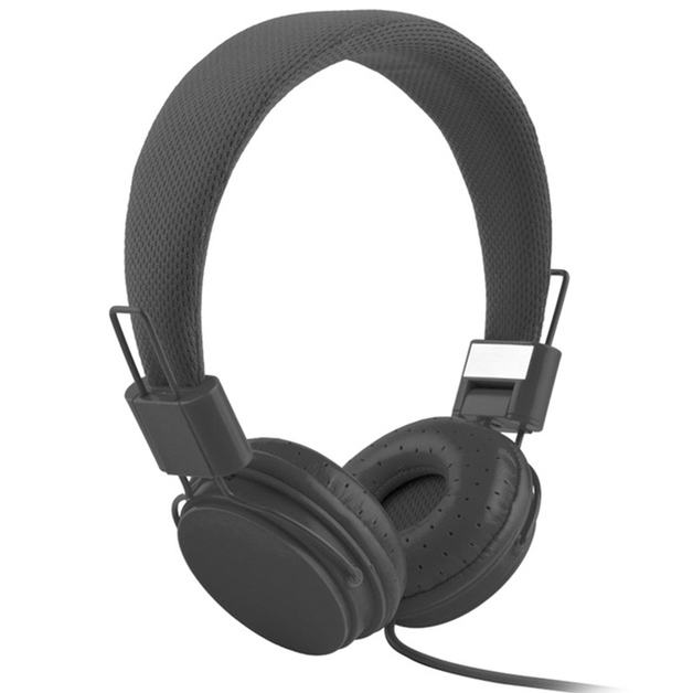 Music On-Ear Earphones with Microphone - Black