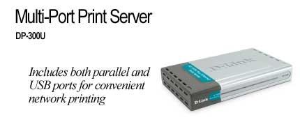 D-Link  2x Parrallel + 1 USB Port