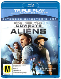 Cowboys and Aliens - Triple Play - Blu-ray + DVD + Digital Copy on DVD, Blu-ray, DC