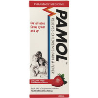 Pamol All Ages Strawberry Pain and Fever Relief Colour Free (200ml)