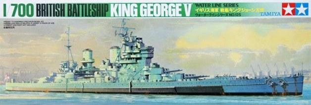 Tamiya 1/700 King George British Battleship - Model Kit