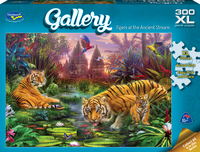 Holdson XL: 300 Piece Puzzle - Gallery (Tigers at the Ancient Stream) image