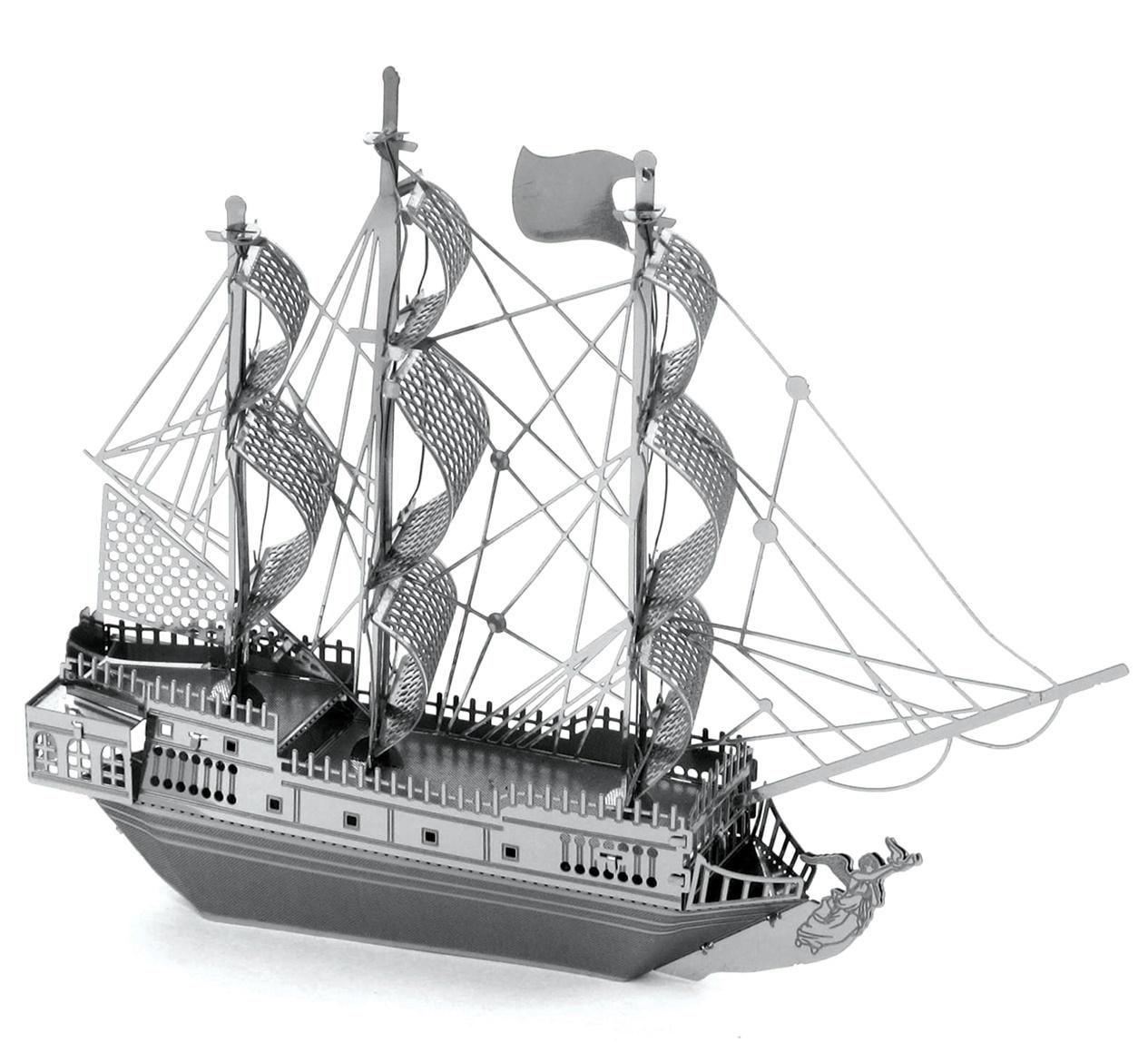 Metal Earth: Black Pearl Pirate Ship - Model Kit image