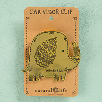 Natural Life: Visor Clip - Shiny Gold Protect Luck