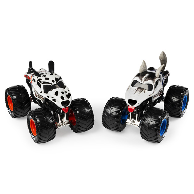 Monster Jam: 1:64 Scale Diecast 2-Pack - Dalmatian and Husky