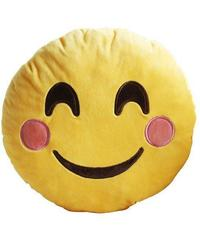 Smiling Face Emoji with Blushed Cheeks Cushion - 34cm