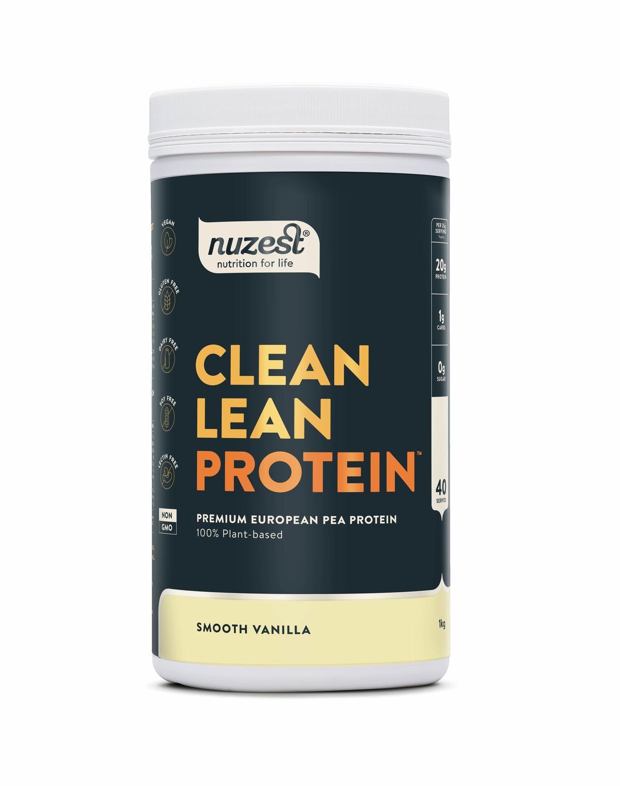 Nuzest Clean Lean Plant Based Protein Powder - Smooth Vanilla (1kg) image