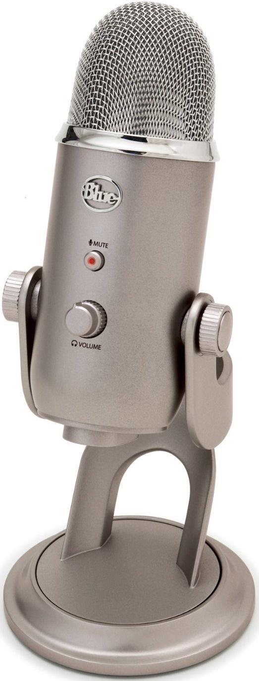 Blue Microphones Yeti Multi-Pattern USB Microphone (Platinum) for  image