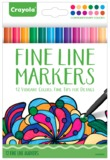 Crayola Colour Escapes: Contemporary Fine Line Markers - 12 Pack