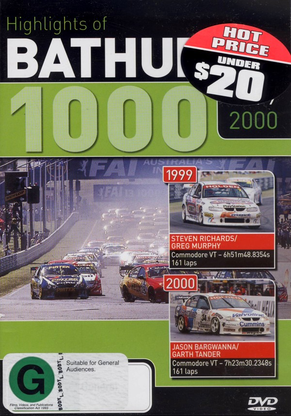 Highlights Of Bathurst 1000 - 1999 / 2000 on DVD image