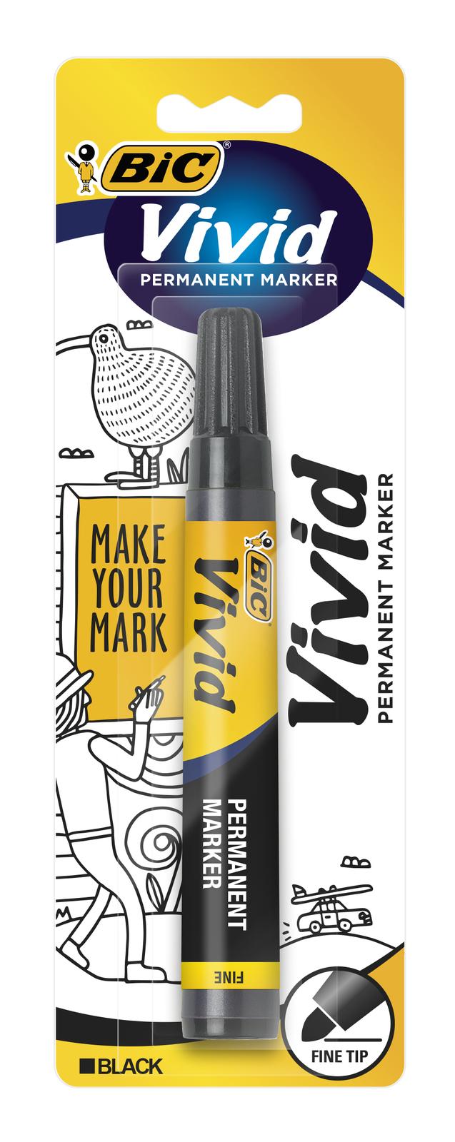 Vivid: Permanent Marker - Fine Tip Black image