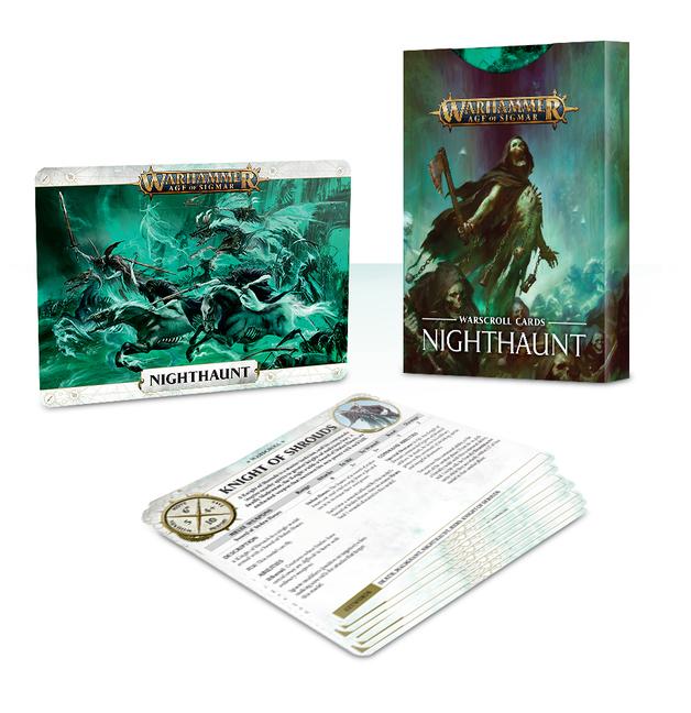 Warhammer Age of Sigmar Warscroll Cards: Nighthaunt