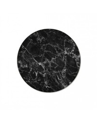 Marble Black Placemat - Round (Single)