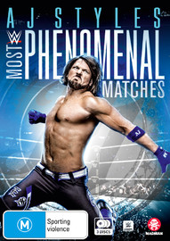 WWE: AJ Styles - Most Phenomenal Matches on DVD