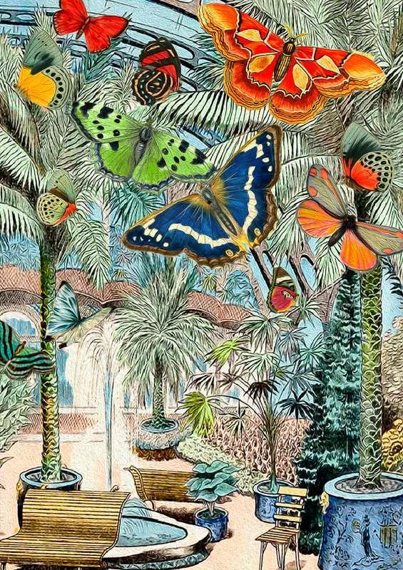 Madam Treacle: Butterfly Oasis Multi-Purpose Card
