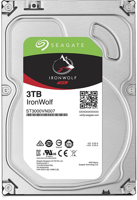 "3TB Seagate IronWolf 3.5"" 5900RPM SATA NAS HDD"