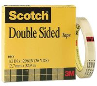 Scotch 665 Double Sided Tape Refill Roll 12.7mm x 33m