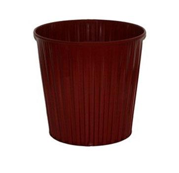 Fluteline 15L Metal Waste Bin - Red