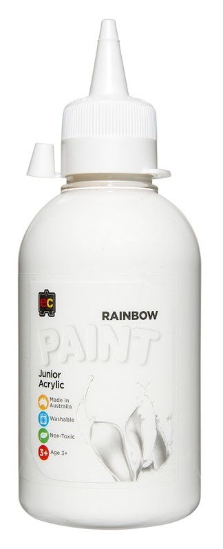 EC Colours - 250ml Rainbow Acrylic Paint - White