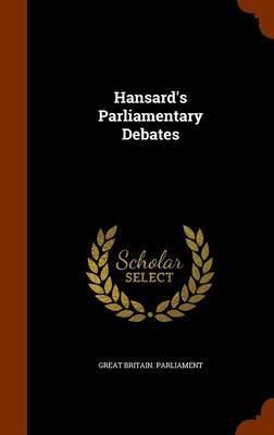 Hansard's Parliamentary Debates image