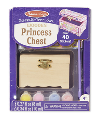Melissa & Doug: Decorate Your Own - Princess Chest