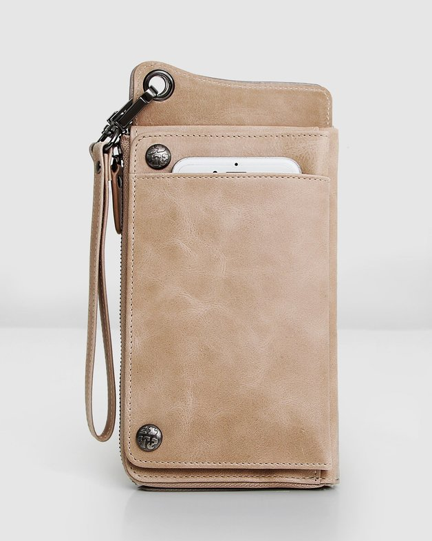 Belle and Bloom: Penelope Leather Wallet - Latte