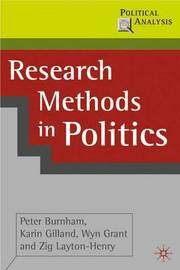 Research Methods in Politics by Peter Burnham image