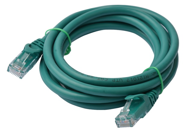8ware: Cat 6a UTP Ethernet Cable Snagless - 2m (Green)