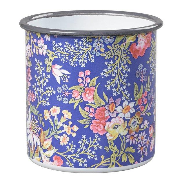 V&A Small Enamel Pot - Kilburn Blue