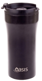Oasis Insulated Stainless Steel Plunger Travel Cup - Matte Black (350ml)