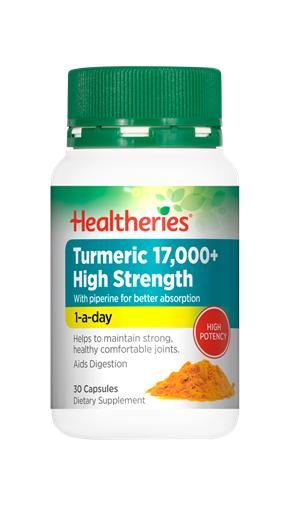 Healtheries Turmeric 17,000+ High Strength