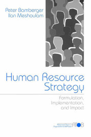 Human Resource Strategy by Peter A. Bamberger image