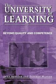 The University of Learning by Ference Marton