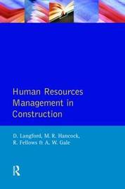 Human Resources Management in Construction by David Langford image