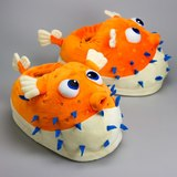 Giant Pufferfish Slippers