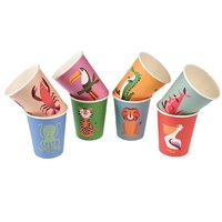 Rex Paper Cups - Creatures 8Pack