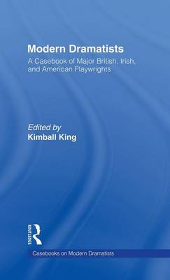 Modern Dramatists by Kimball King image